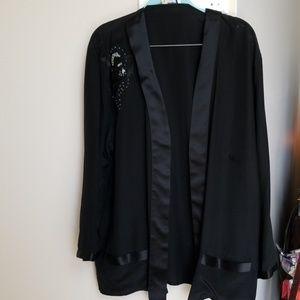Odyssey silk evening jacket sz M